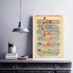 Vintage Print Schwimmer