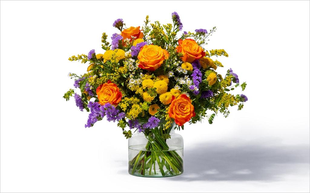 Moderne Blumensträuße zum Geburtstag