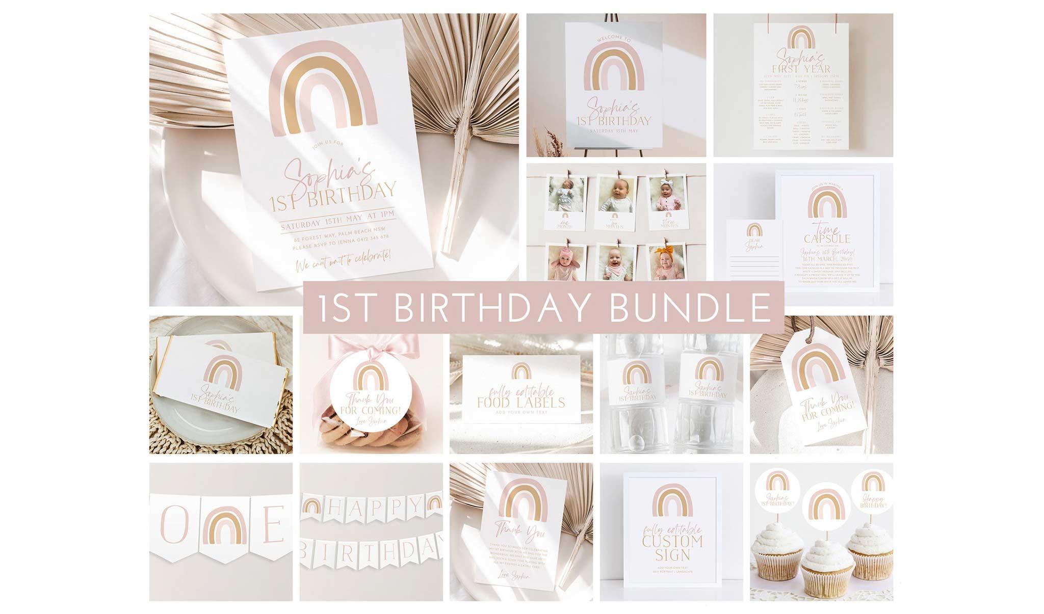 Geburtstags-Set zum 1. Geburtstag