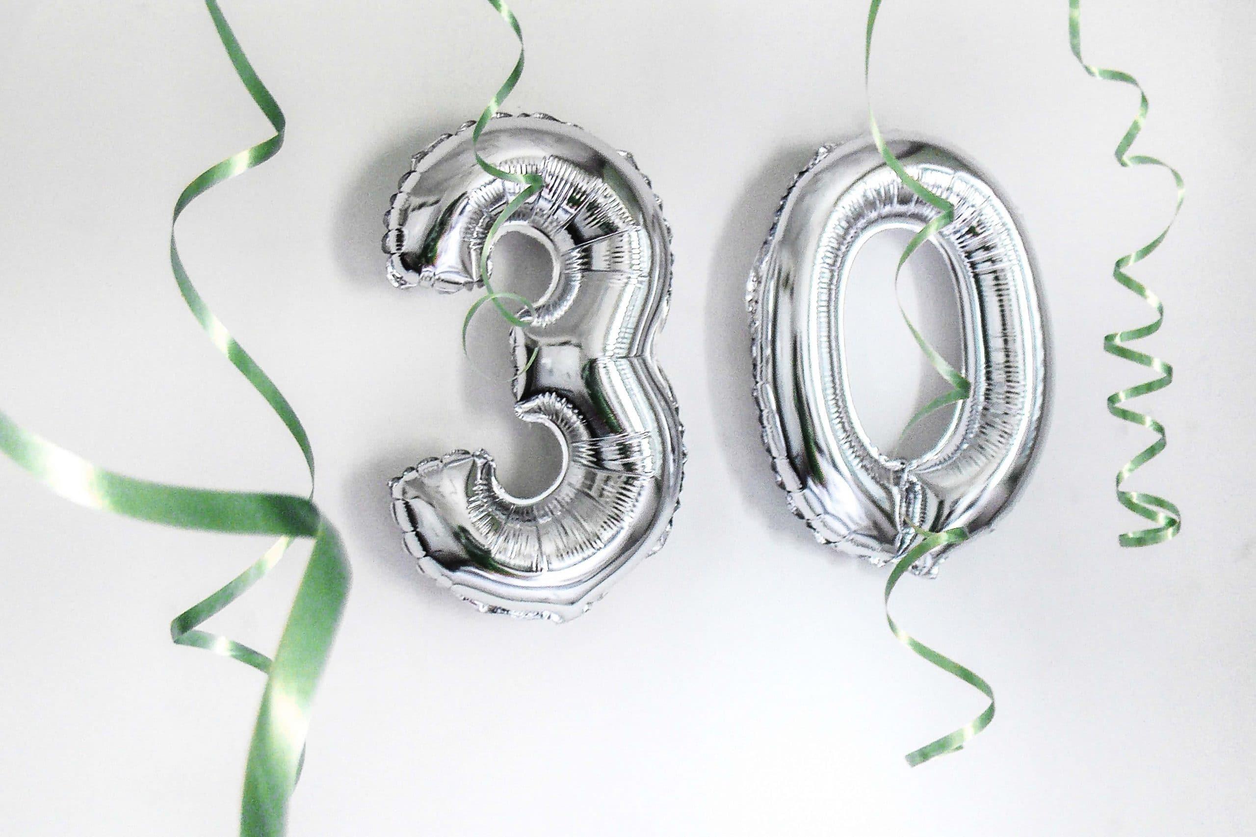 Geschenke zum 30. Geburtstag
