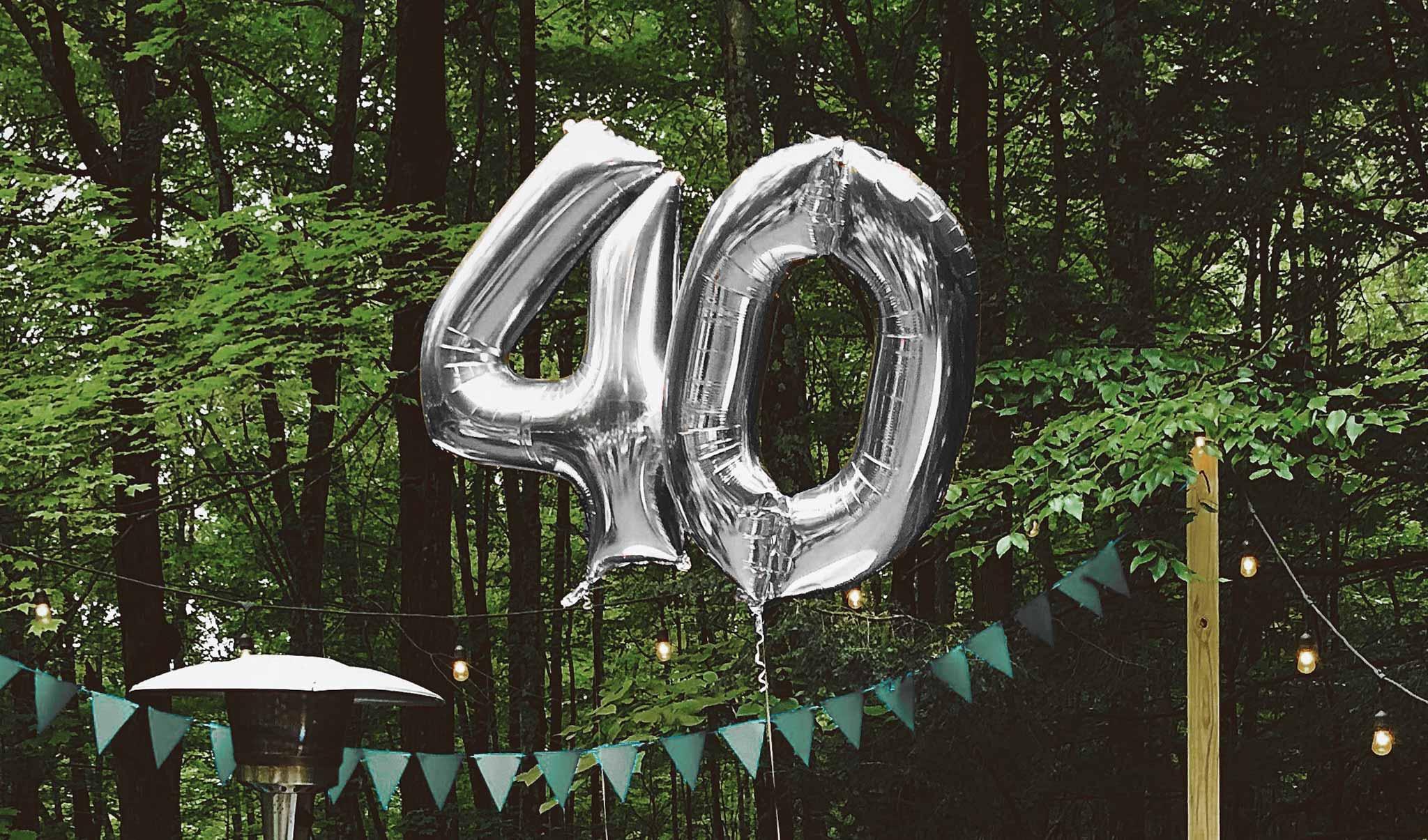 Jahreszahl Geschenke zum 40