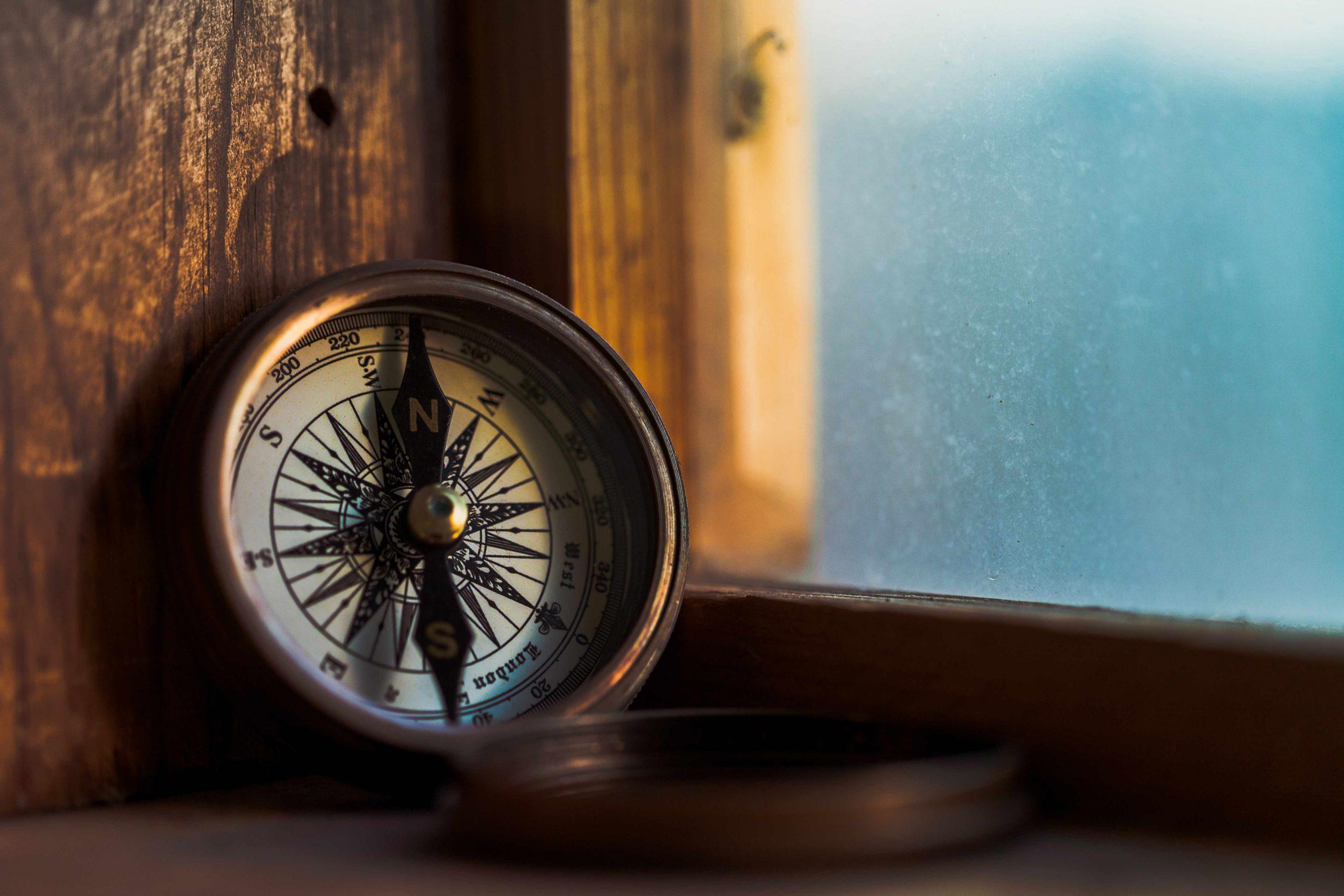 Maritime Geschenke - Gravierter Kompass